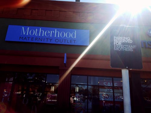 Maternity Motherhood, expectant mother parking.