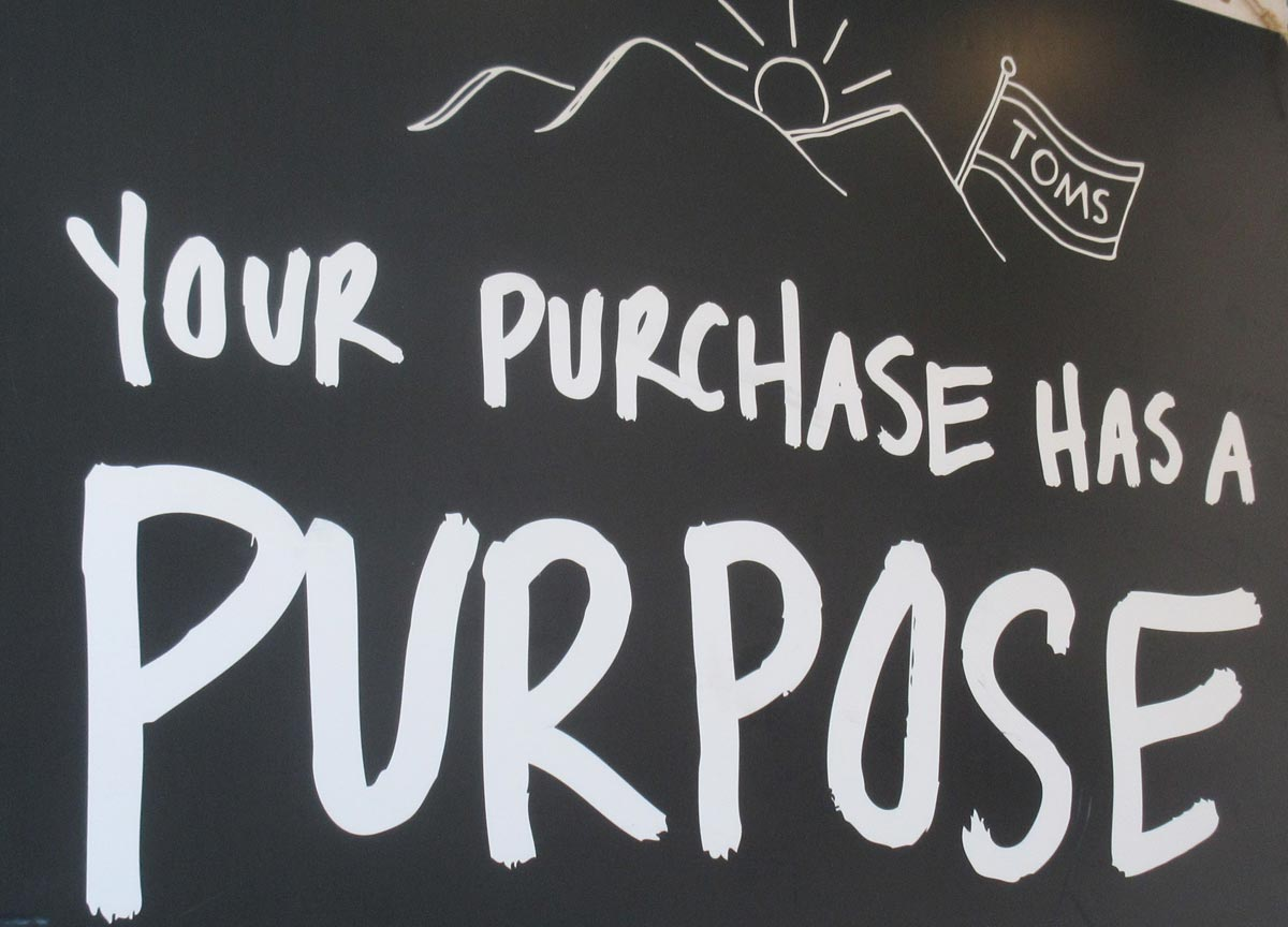 Your purchase has a purpose.